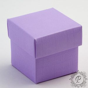 Lilac Cube Corperchio Wedding Favour Box