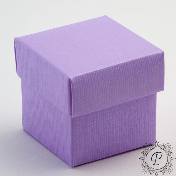 Lilac Cube Corperchio Wedding Favour Box