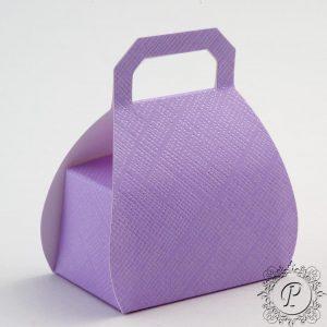 Lilac Handbag Wedding Favour Box