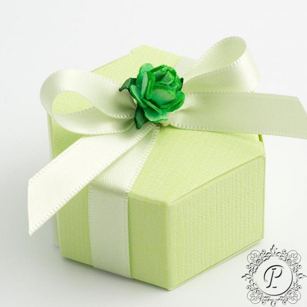Lime Green Hex Astuccio Wedding Favour Box