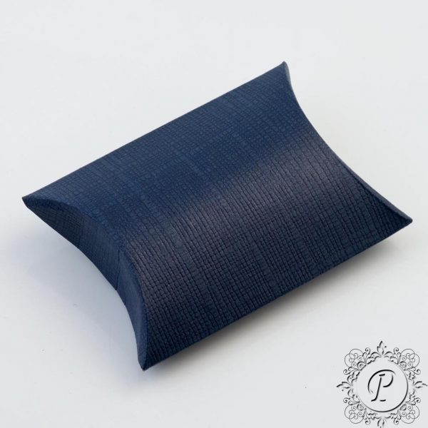Navy Blue Pillow Bustina Wedding Favour Box