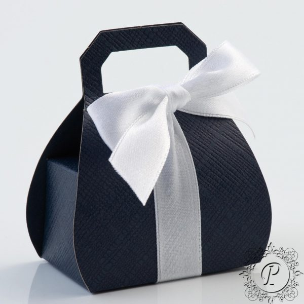 Navy Blue handbag Wedding Favour Box