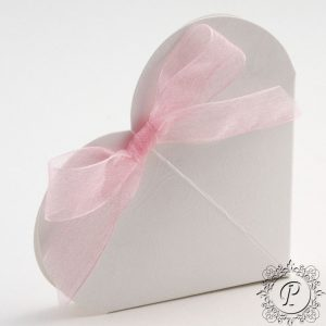 Pearla Heart Wedding Favour Box