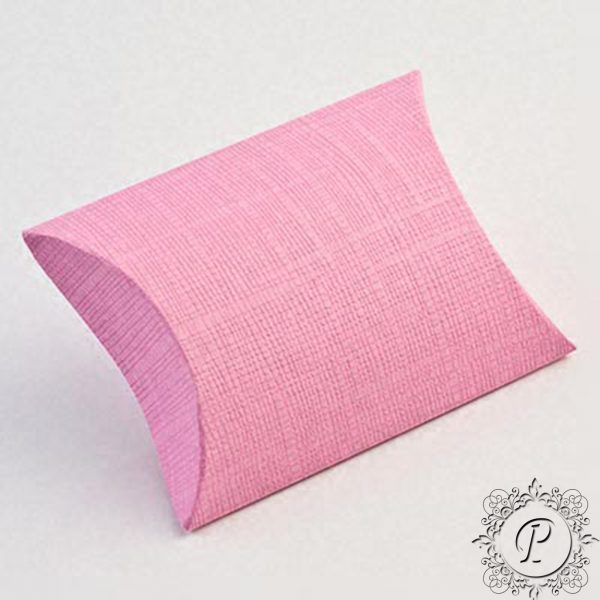 Pink Pillow Bustina Wedding Favour Box