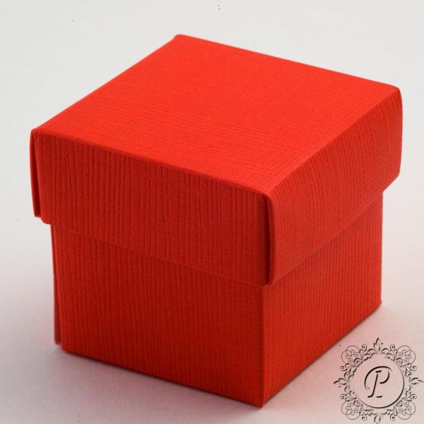 Red Cube Corperchio Wedding Favour Box