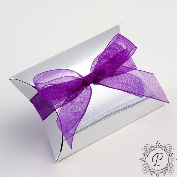 Silver Pillow bustina Wedding Favour Box