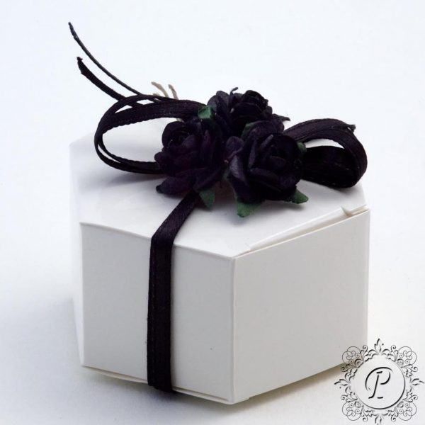White Gloss Hex Astuccio Wedding Favour Box