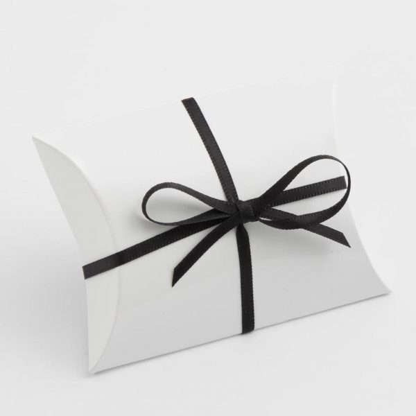 White Gloss Pillow Bustina Wedding Favour Box