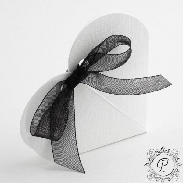 White Heart Wedding Favour Box