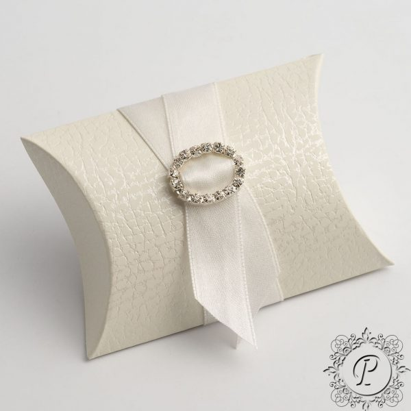 White Pelle Pillow Bustina Wedding Favour Box