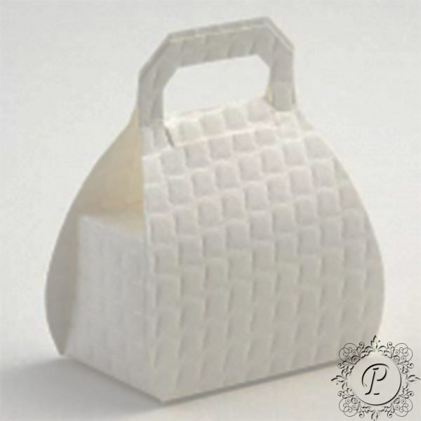 White Quilted Handbag Wedding Favour Box