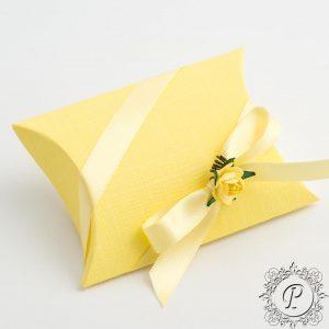 Yellow Pillow Bustina Wedding Favour Box